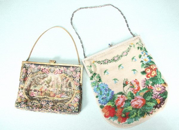 796: TWO HANDWORKED PURSES,