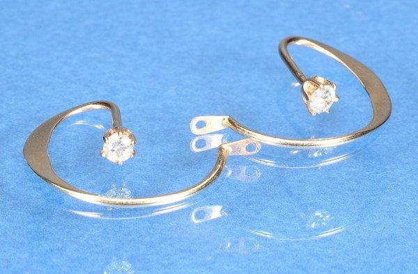 797: PAIR DIAMOND EARRING ENHANCERS.