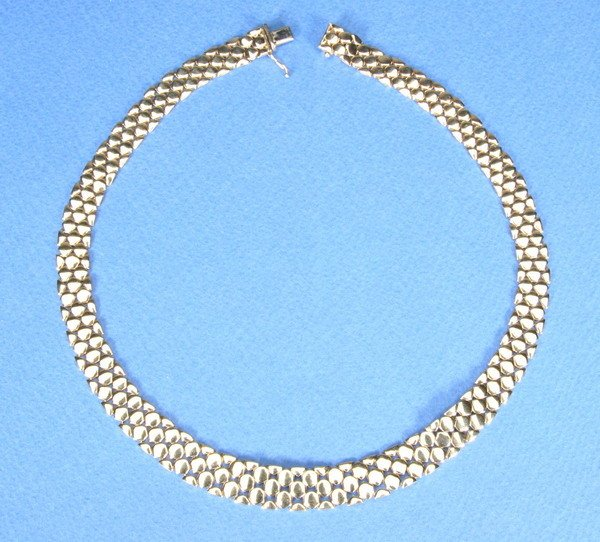 809: 14K YELLOW GOLD NECKLACE.