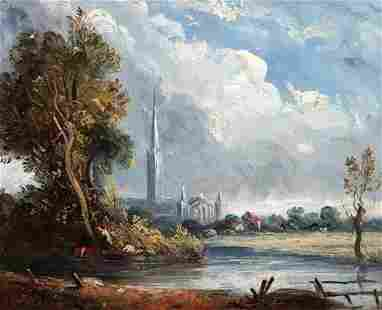 1359: ATTRIBUTED TO JOHN CONSTABLE (British, 1776-1837)