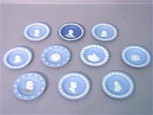 A Collection of Ten Wedgewood Blue Jasp