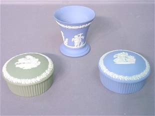 Three Wedgwood Dishes Including Two Cov
