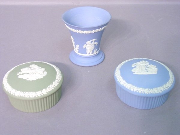 2005: Three Wedgwood Dishes Including Two Cov