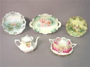 Five Pieces of R.S. Prussia Porcelain I