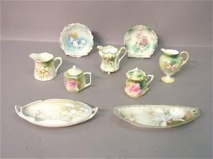 Nine Pieces R.S. Prussia Porcelain Incl