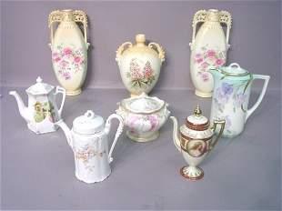 Seven Pieces of Continental Porcelain I