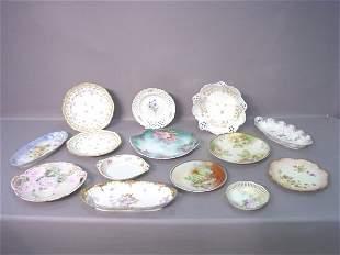 Fourteen Pieces of Porcelain Including