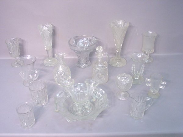 2021: Fifteen Pieces of Pressed Glass in Vari
