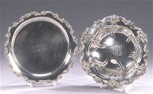 TWO AMERICAN SILVER SERVING PIECES, early