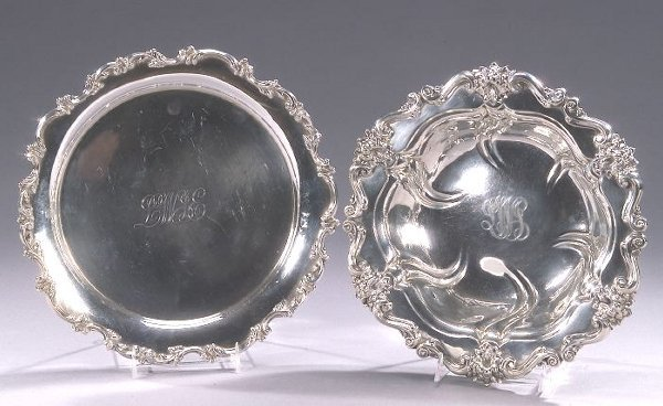 3: TWO AMERICAN SILVER SERVING PIECES, early
