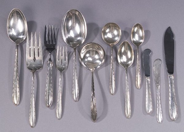 6: AN AMERICAN SILVER LUNCHEON SERVICE, early