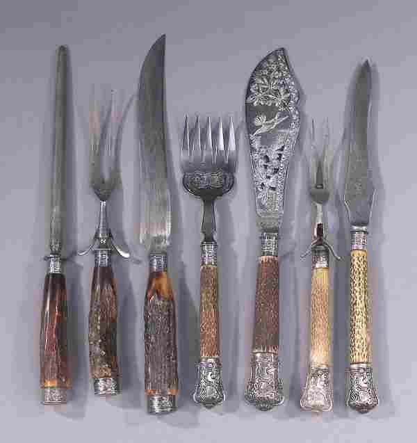 A COLLECTION OF STERLING AND SILVER PLATE