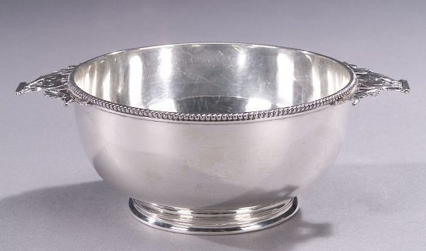 13: AN AMERICAN SILVER TWO-HANDLED BOWL, by T