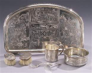 A COLLECTION OF AMERICAN SILVER CHILDREN'
