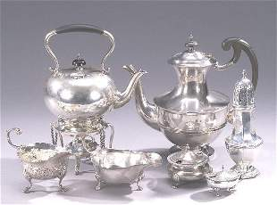 A COLLECTION OF ENGLISH SILVER TABLE ARTI