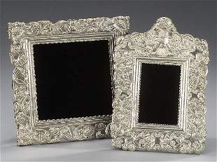 20: TWO SPANISH COLONIAL STYLE SILVER FRAMES.