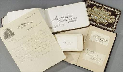 83: LATE 19TH CENTURY COLLECTION OF AUTOGRAPH