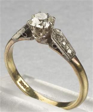 A 18K YELLOW GOLD, WHITE GOLD AND DIAMON