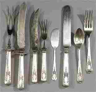FORTY PIECES OF AMERICAN STERLING FLATWARE