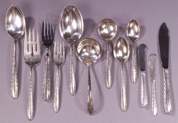 5: AN AMERICAN SILVER LUNCHEON SERVICE, early