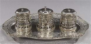A VICTORIAN STERLING STANDISH, London, 18
