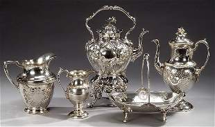 A COLLECTION OF SILVER PLATE, mid-late 19