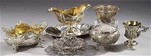 A COLLECTION SILVER AND SILVER PLATED HOL
