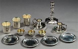 A COLLECTION OF STERLING TABLE ARTICLES,