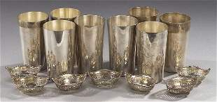 EIGHT AMERICAN STERLING GOBLETS, S. Kirk