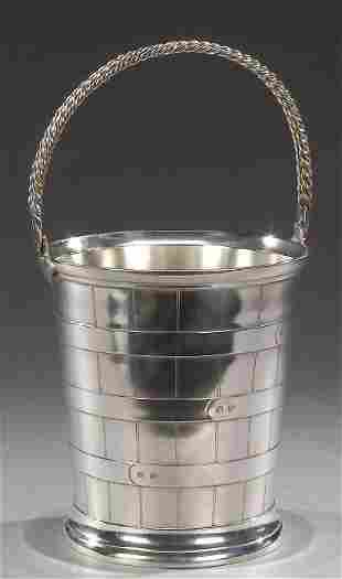 A SILVER PLATED WINE BUCKET, contemporary