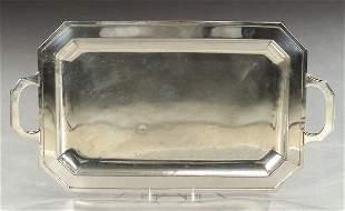 A CUBAN STERLING TRAY, marked 'Joyeria/Ri
