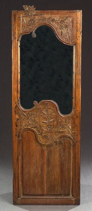 A FRENCH CARVED OAK PANEL, 18th century.