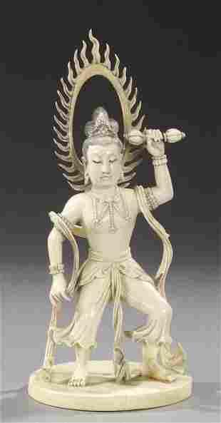A SINO-TIBETAN FIGURE OF BODHISATTVA, e