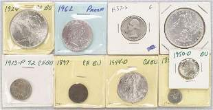 A COLLECTION OF MINTED COINS. Includes s
