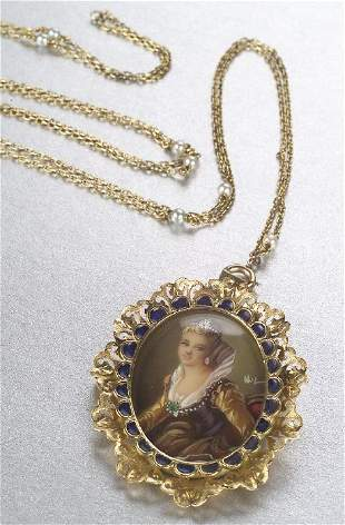 AN 18K YELLOW GOLD NECKLACE. Signed Corl