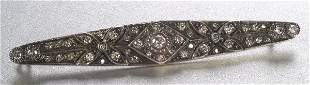 AN ANTIQUE DIAMOND BROOCH. Designed as a