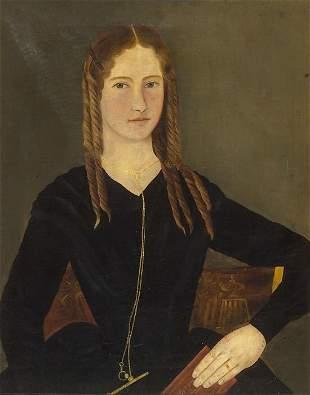 1307: AMERICAN SCHOOL. PORTRAIT OF HARRIET