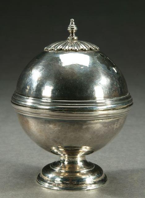 3A: A SILVER SOAP BOX, probably George III, u
