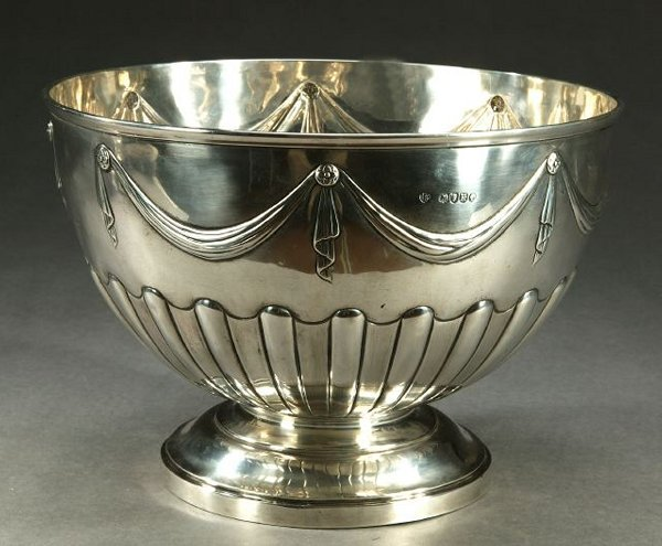 6: A VICTORIAN STERLING PUNCHBOWL, London, 18