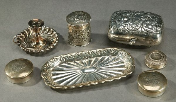 8A: A COLLECTION SILVER AND SILVER PLATED TOI