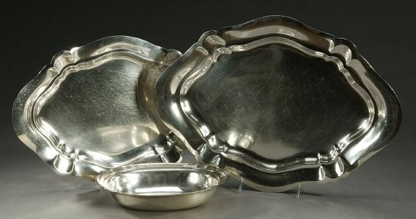 11: TWO AMERICAN STERLING PLATTERS AND AN OPE