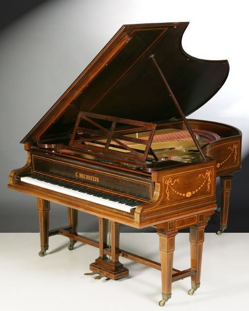 903: A BECHSTEIN MARQUETRY INLAID ROSEWOOD BA
