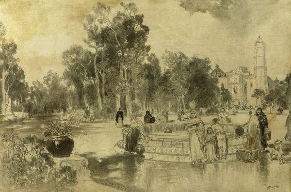 1207: THOMAS MORAN (American, 1837 - 1926). W