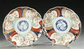 391: SIX JAPANESE IMARI PORCELAIN PLATES, early Meiji p