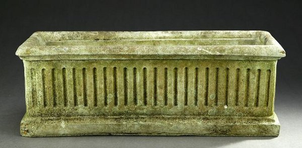 1044: FOUR NEOCLASSICAL STYLE CAST STONE PLANTERS, 20th