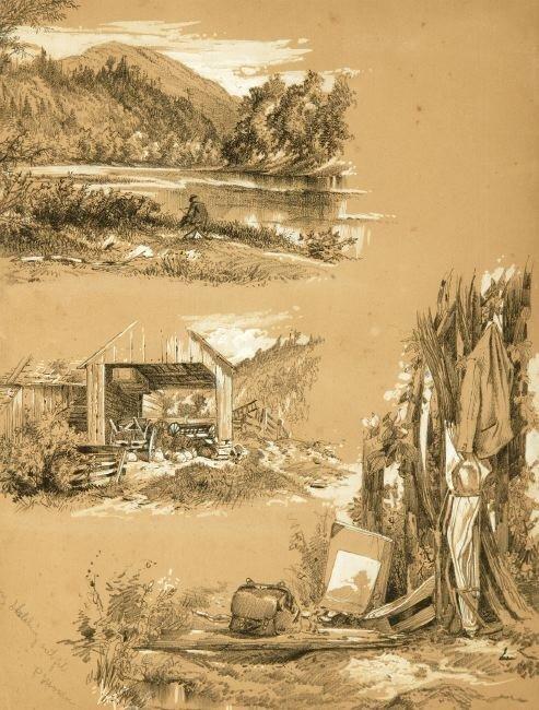 1122: PETER MORAN (American, 1841-1915). MY SKETCHING O