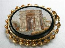 1282 A VICTORIAN MICROMOSAIC BROOCH