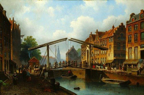 1644: E. ALEXANDER HILVERDINK (Dutch, 1846-1891). CANAL