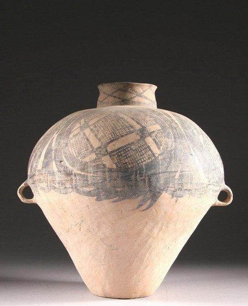 1: CHINESE NEOLITHIC POTTERY JAR, Banshan phase, Majiay