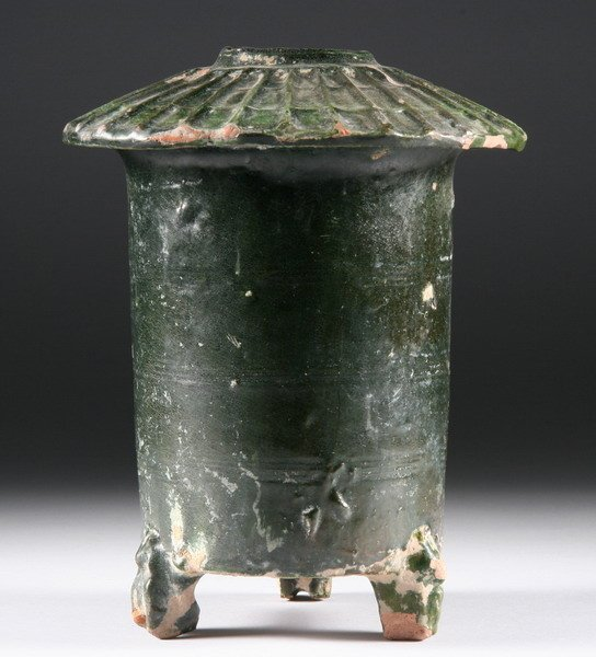 2: CHINESE GREEN GLAZED POTTERY GRANARY, Eastern Han dy